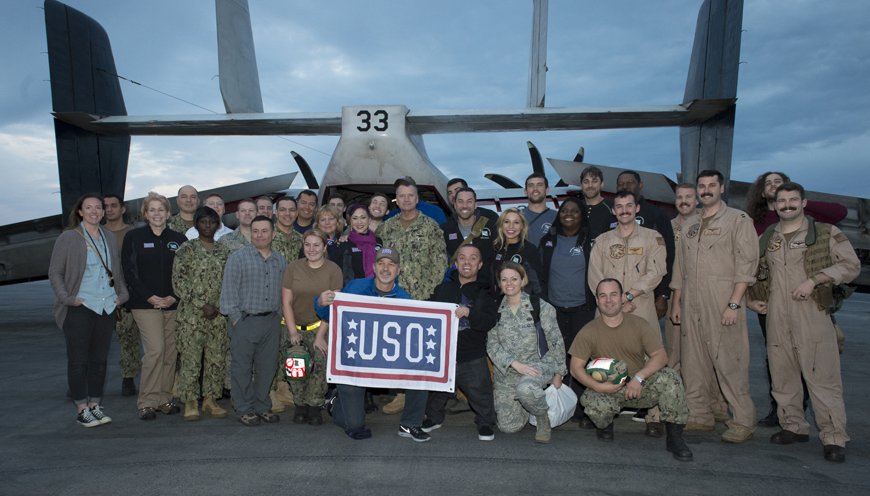 2015 VCJCS USO Tour USS Carl Vinson